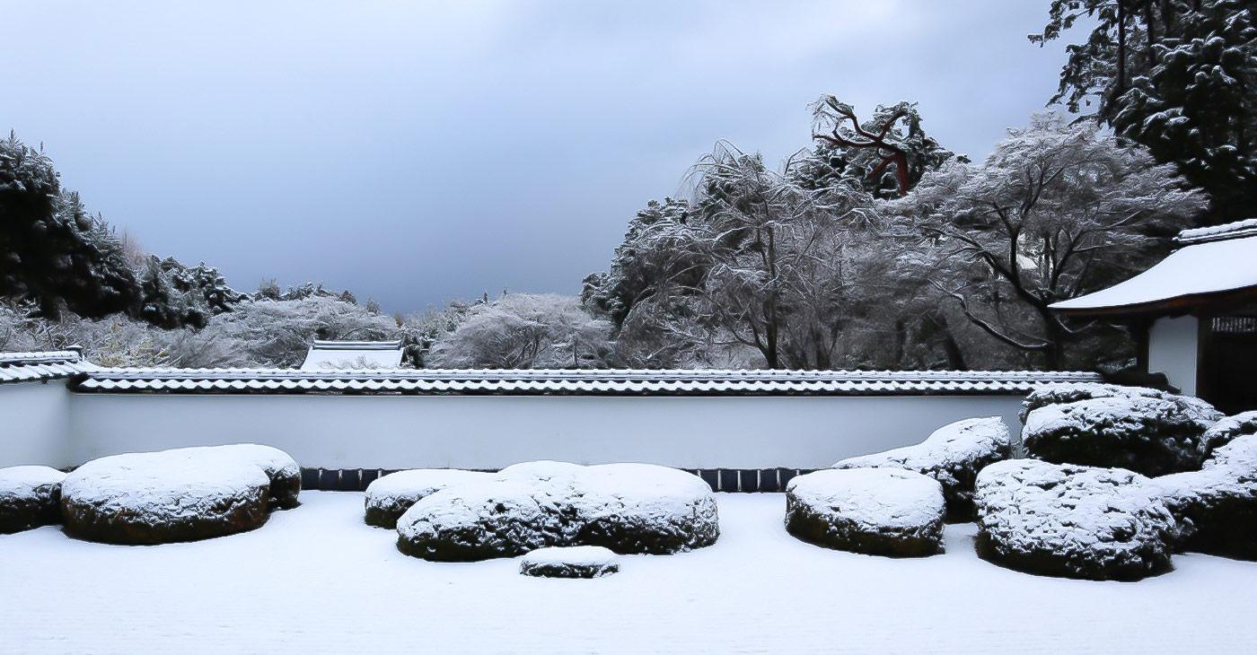 一度は訪れたい雪の正伝寺