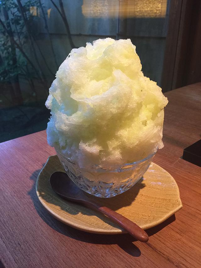 京のかき氷・祇園 日・淡雪1