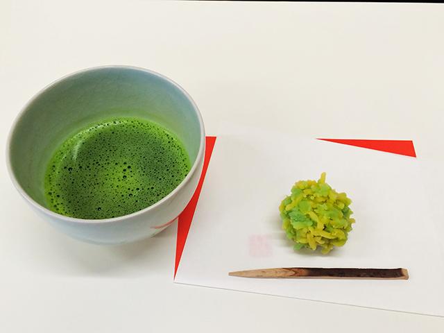 亀屋良長手作り教室・和菓子とお抹茶