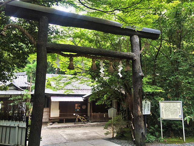 野宮神社-黒木鳥居