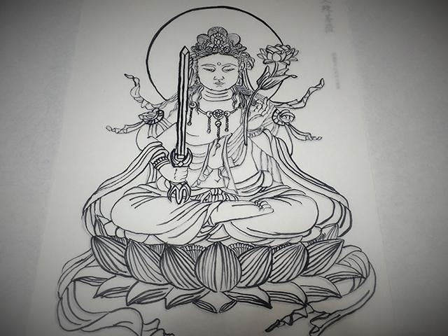 勝林寺 写仏体験-完成
