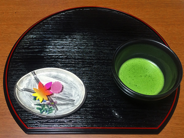 勝林寺 写仏体験-お抹茶