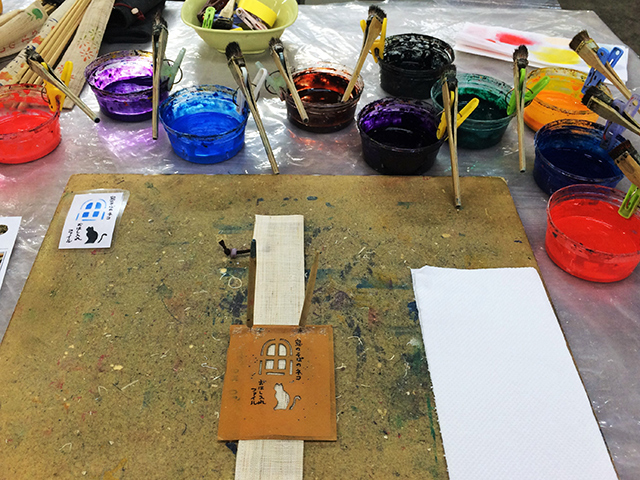 お箸と京友禅のお箸入れづくり体験-染め道具