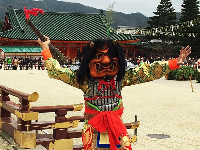 平安神宮の節分祭―邪鬼