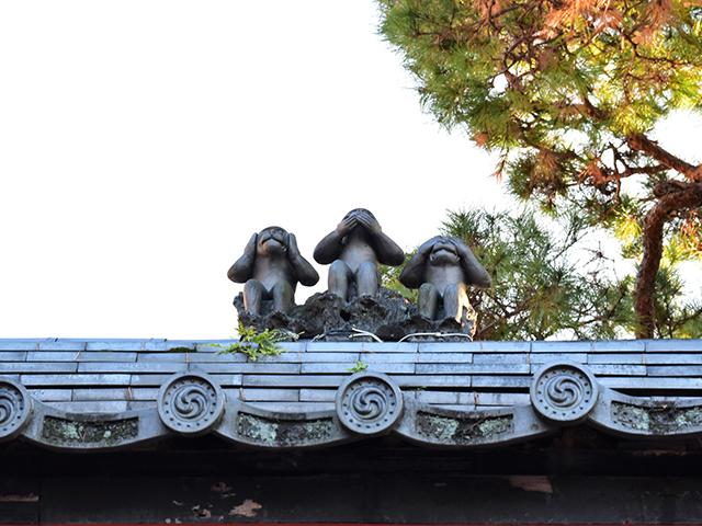 八坂庚申堂-三猿