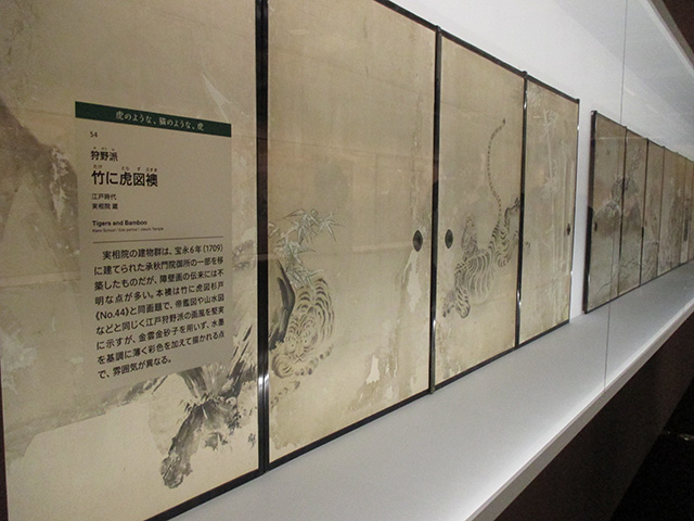 実相院門跡展 - 狩野派 竹に虎図襖