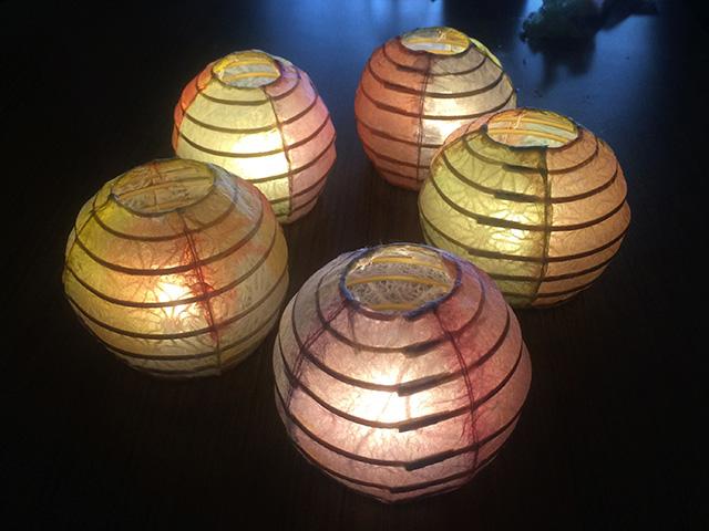 提灯照明づくり体験 - 点灯