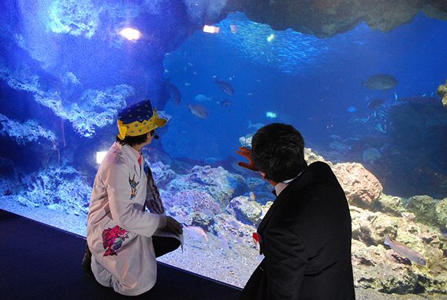 京都水族館 - さかなクンと館長2