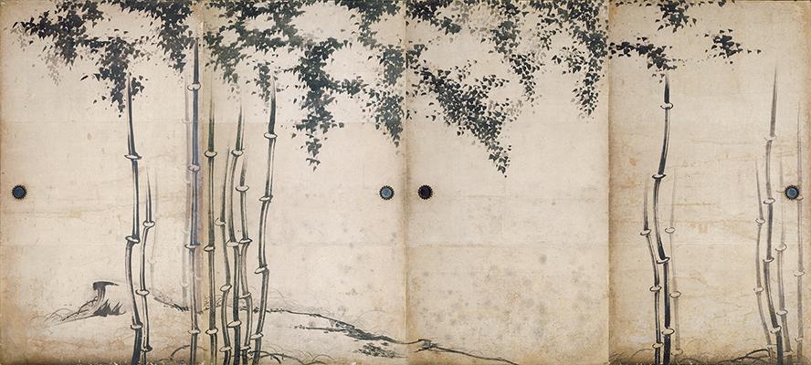 重文-竹図襖