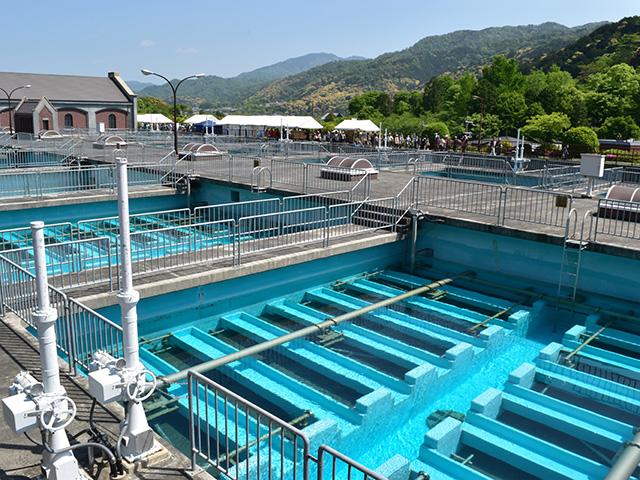 蹴上浄水場 - 処理施設