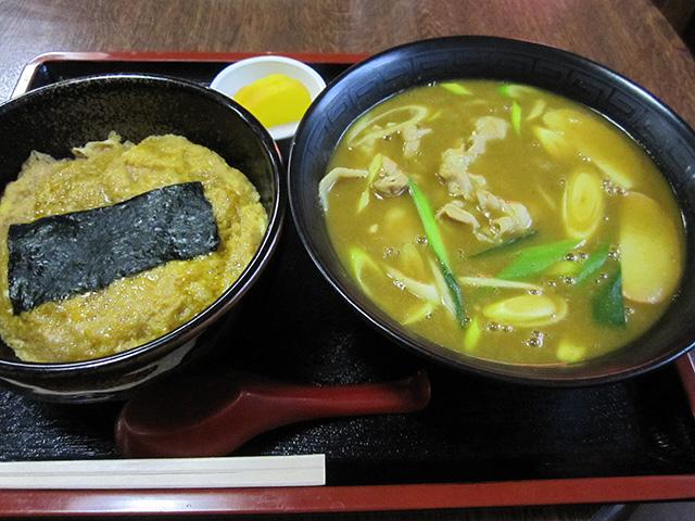 小谷食堂 - カレー中華 たまご丼セット