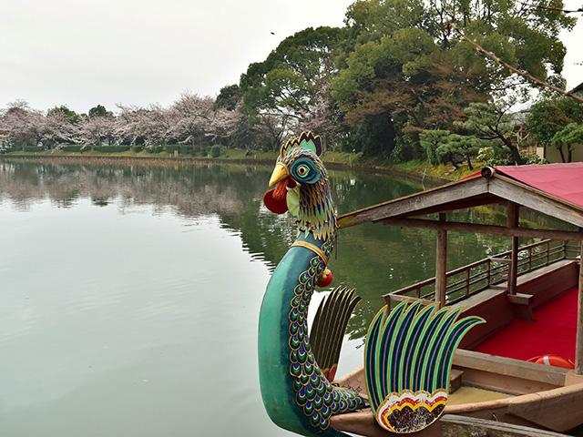 大覚寺の「華道祭」 - 舟席1