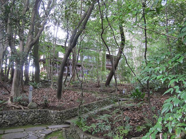 木立の中の茂庵