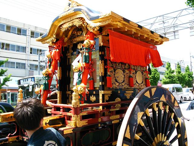 今宮祭 - 牛車
