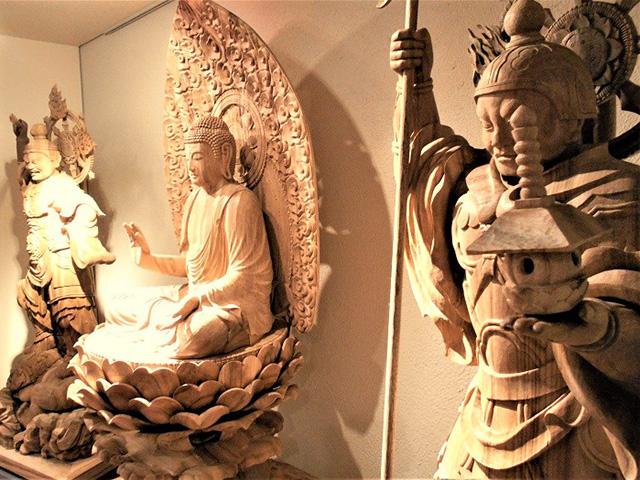 京都伝統工芸館 - 釈迦如来像、持国天、多聞天