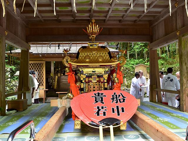 貴船祭 - 神輿奉安
