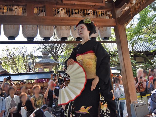 安井金比羅宮 - 櫛まつり 舞踊1