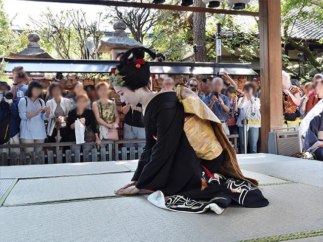 安井金比羅宮 - 櫛まつり 舞踊2