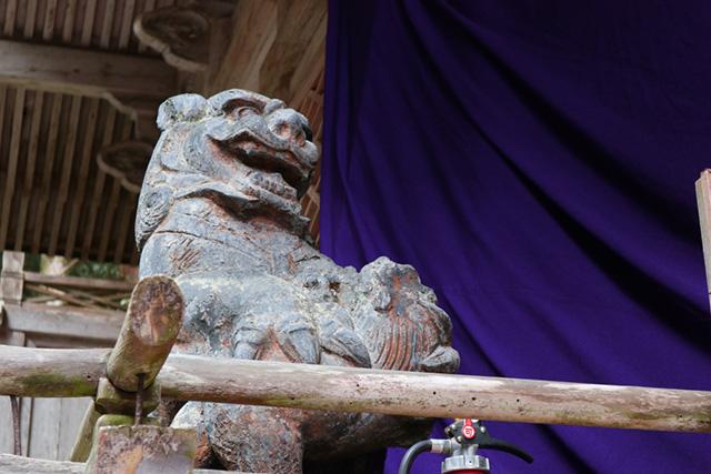 由岐神社 - 狛犬