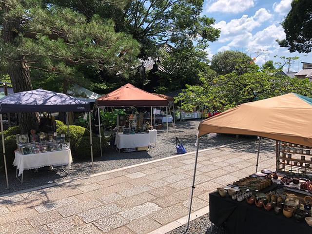 千本釈迦堂の陶器市2