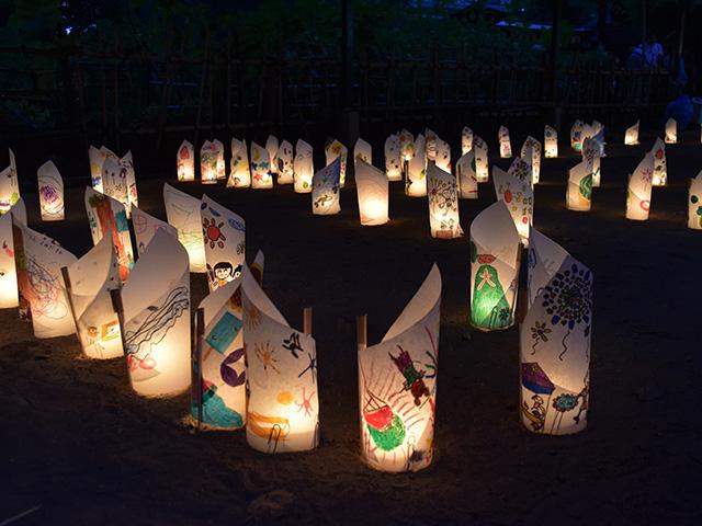 藤森盆踊りフェスティバル - 灯ろう1