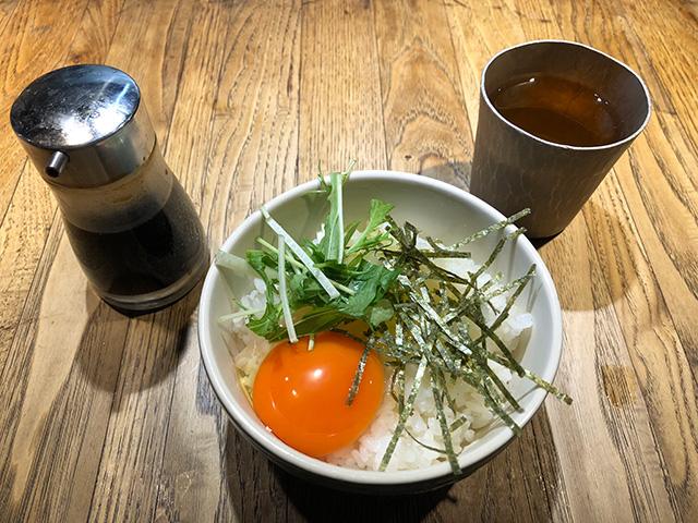 和醸良麺「すがり」- 卵かけごはん