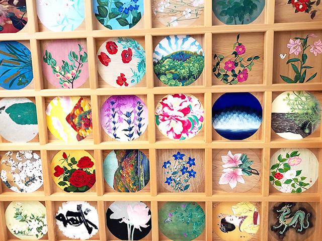 正寿院 花天井画