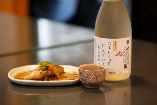 人肌燗×魚の煮つけ(京土愛)