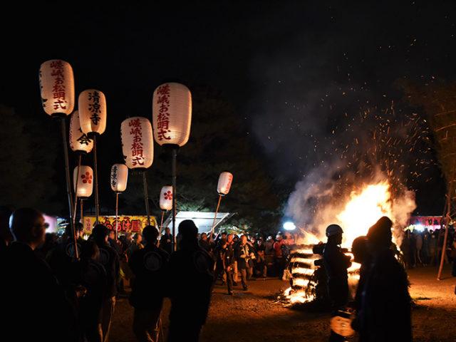 清凉寺の嵯峨お松明式5